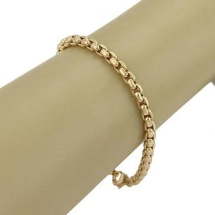 Tiffany & Co. Tiffany Co. Germany 18k Yellow Gold Curved Box Link Chain Bracelet
