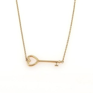 Tiffany & Co. Tiffany Co. Mini Heart Key 18k Rose Gold Pendant Necklace