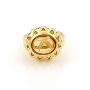 Tiffany & Co. Tiffany Co. Paloma Picasso 18k Yellow Gold Cabochon Citrine Solitaire Ring