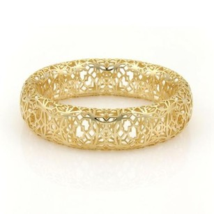 Tiffany & Co. Tiffany Co. Paloma Picasso Marrakesh Open Design Wide Bangle In 18k Ygold