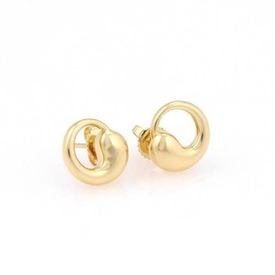 Tiffany & Co. Tiffany Co. Peretti 18k Yellow Gold Eternal Circle Stud Earrings
