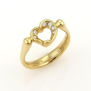 Tiffany & Co. Tiffany Co. Peretti Diamond Open Heart Ring - 4.75