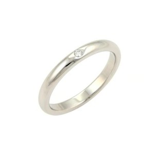 Tiffany & Co. Tiffany Co. Peretti Diamond Platinum 2.5mm Stack Band Ring -size