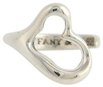 Tiffany & Co. Tiffany Co Peretti Open Heart Wrap Ring - Sterling Silver Adjustable