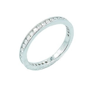 Tiffany & Co. Tiffany Co Platinum 0.40ct Diamond Ring 2.8 Grams Mm Wide
