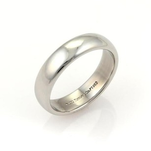 Tiffany & Co. Tiffany Co. Platinum 6mm Wide Wedding Dome Band Ring 11.75