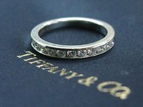 Tiffany & Co. Tiffany Co Platinum Channel-set Half Circle Diamond Ring .33ct 3mm