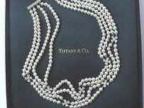 Tiffany & Co. Tiffany Co Platinum Cultured Pearl Diamond Choker 14 1.80ct