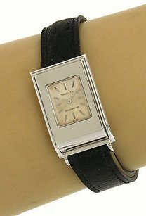 Tiffany & Co. Tiffany Co. Schlumberger 18k White Gold Ladies Wrist Watch