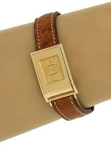 Tiffany & Co. Tiffany Co. Schlumberger 18k Yellow Gold Ladies Wrist Watch Original Band Box