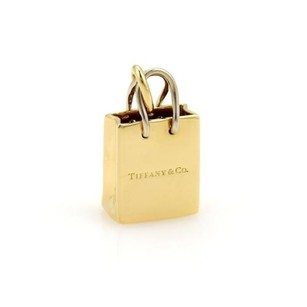 Tiffany & Co. Tiffany Co. Shopping Bag Charm Pendant In 18k Yellow White Gold