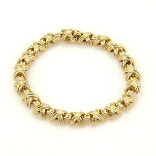 Tiffany & Co. Tiffany Co. Signature X 18k Yellow Gold Bracelet