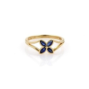 Tiffany & Co. Tiffany Co. Victoria Sapphire 18k Yellow Gold Floral Ring
