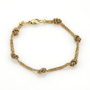 Tiffany & Co. Tiffany Co.18k Yellow Gold Love Knot Double Strand Chain Bracelet Germany