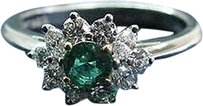 Tiffany & Co. Tiffany,Co,Platinum,Gem,Green,Emerald,Multi,Shape,Diamond,Jewelry,Ring,.96ct