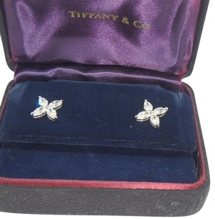Tiffany & Co. Victoria platinum and diamond earrings large size