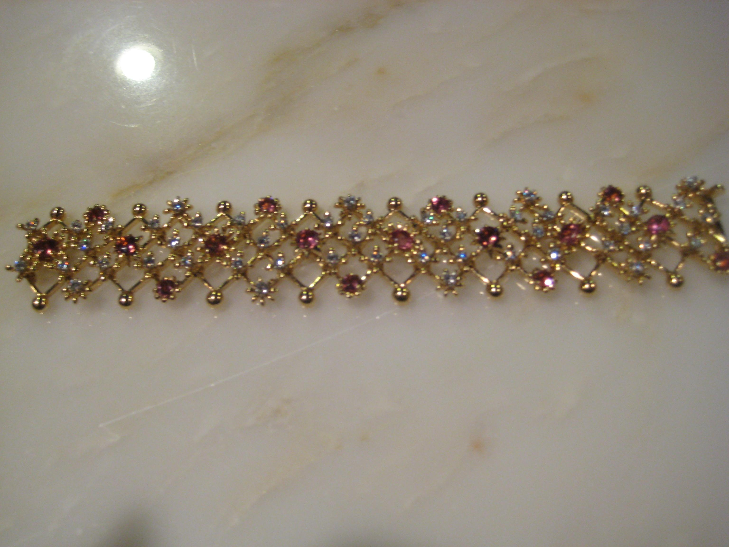 Tiffany & Co Yellow Vintage 18kt White Gold Diamond Pink Sapphire
