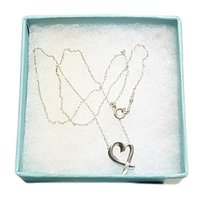 Tiffany & Co. Vintage Tiffany & Co. Diamond Open Heart Necklace