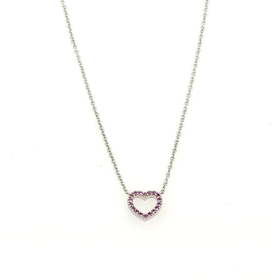 tiffany amp co white gold pink sapphire 16230 classic