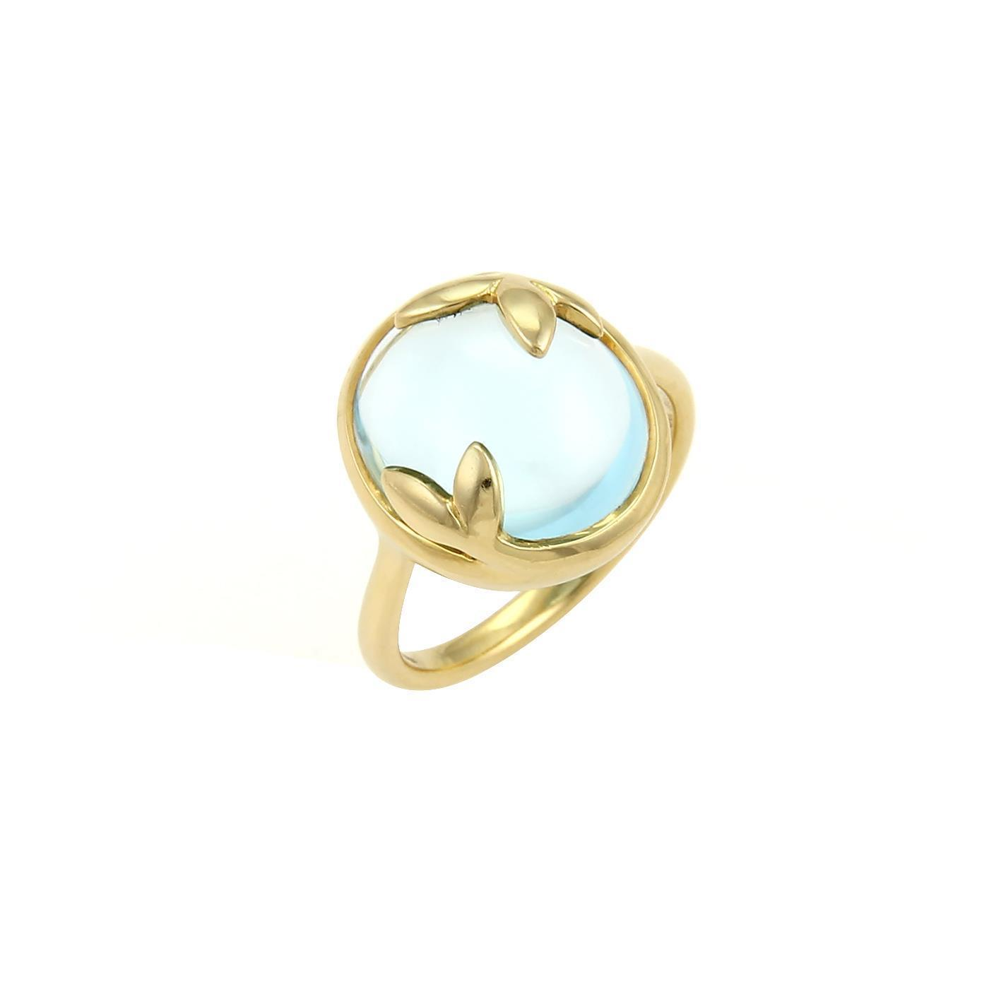 Paloma Picasso Olive Leaf pendant in 18k gold with a blue topaz - Size Tiffany & Co. ZOfSfk
