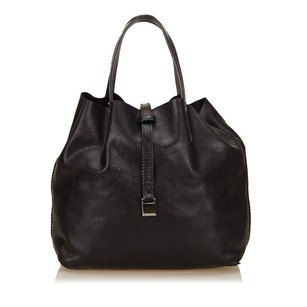 Tiffany & Co. Black Leather Others Tote