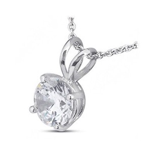 Tiffany Jones Designs 6.16 Carat G-si2 Exc-cut Round Natural Diamond 18k Prong Solitaire Pendant 11mm
