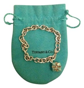 Tiffany Tiffany & Co. sterling silver bracelet with Tiffany blue box charm.