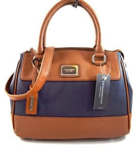 Tignanello Leather Social Satchel in Blue