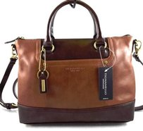 Tignanello Leather Smooth Satchel in Brown