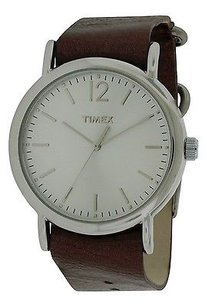 Timex Timex Leather Ladies Watch T2p341