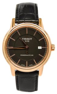 Tissot Tissot Carson T0854073606100 Black Dial Rose Gold-plated Automatic Mens Watch