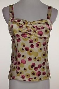 To the Max Womens Pink Yellow Top Multi-Color