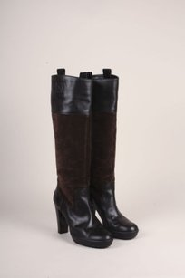 Tod's Tods Leather Suede Knee Brown Boots