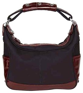 Tod's Nylon Patent Leather Miky Hobo Bag