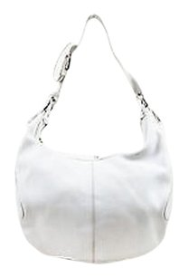 Tod's Tods Leather Silver Hobo Bag