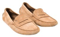 Tod's Tods Camel Black Suede Brown Flats