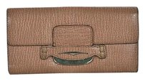 Tod's Tods Womens Tan Clutch Wallet Textured Leather Handbag Purse