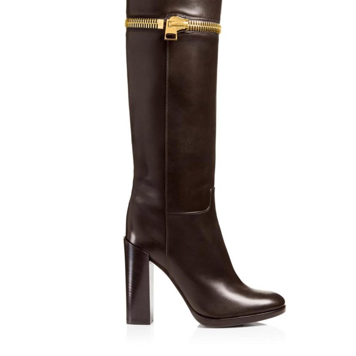 tom ford brown zip boots booties size us 11 regular m b