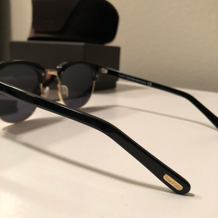 aaed2f5147 Tom Ford Black and Yellow Gold Henry Sunglasses - Tradesy