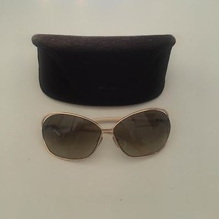 Tom Ford Tom Ford White And Gold Sunglasses