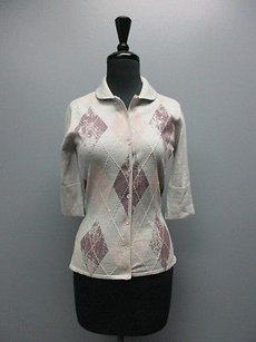 Tommy Bahama Sleeve Button Front Check Cardigan Sm13496 Sweater