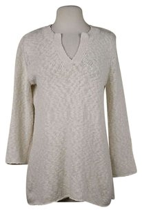 Tommy Bahama Womens V Neck Cotton Sweater