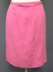 Tommy Bahama Silk Floral Patterend Knee Length Wrap Sma 111 Skirt Pink