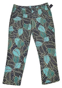 Tommy Hilfiger 61 42 Womens Core Navy Multi Leaf Print Lounge Pants