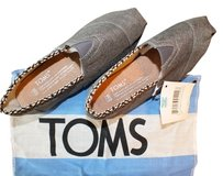TOMS Classic Canvas Oneforone Gray Flats