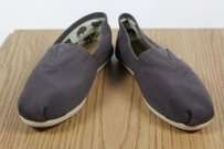 TOMS Womens Solid Taupe Flats