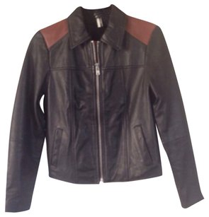 Topshop Real Leather Jacket Two tones Leather Jacket
