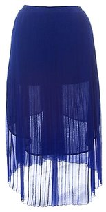 Topshop Womens Skirt Cobalt Blue