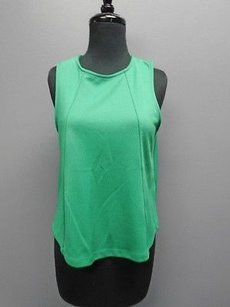 Topshop Sleeveless Stretchy Flowy Dressy 2222a Top Green