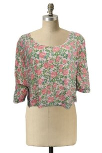Topshop Crop Floral Print Top Multi Color